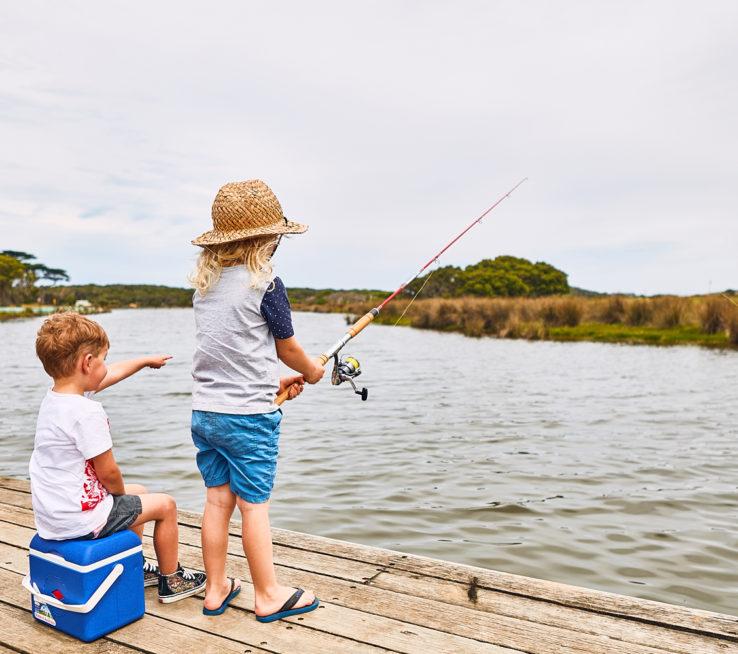 Fishing at Spring Creek, Torquay